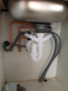 kitchen trap, plumber